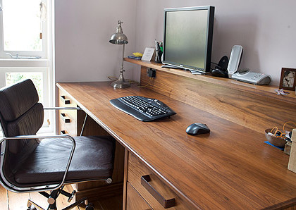 Home office desk and shelf