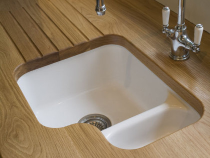 Oak Sink Top with Draining Grooves