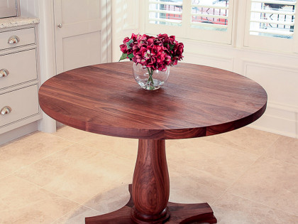 Circular Walnut Table