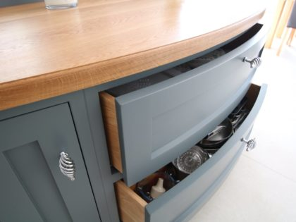Curved Front Oak Worktop